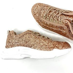 NWT iheartraves | Glittering Dreamz Rose Sneakers